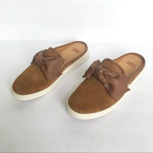 UGG Chestnut Luci Bow Sneaker Mules Size 6